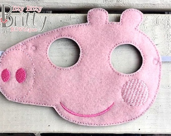 Peppa Pig inspired mask