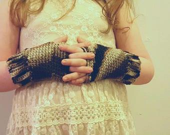 The Mocha Swirl Wrist Warmers