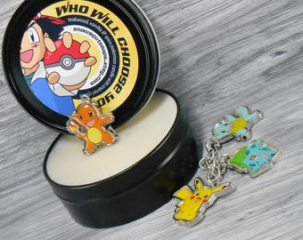 Pokemon Candle Tin with Charm