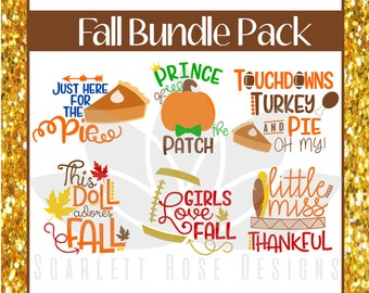 Thanksgiving, Fall SVG, Bundle Pack, Pumpkin Pie, Football, Boy, Girl cut files for silhouette cameo and cricut