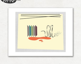 MOVEMENT (v4), Modern Mid Century Abstract, Giclee Fine Art Print for the Home Decor