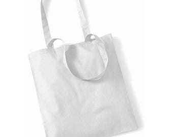 Cotton white bag to create your tote bag: 37 x 40 cm. Customize it!