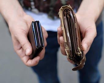 Mens Wallet, Minimalist Wallet, Best men gift, RFID Wallet, Womens Wallet, Leather Wallet, Original Nero Wallet