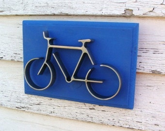 Bicycle Wall Art, Bike Wall Decor, Gift for Cyclist
