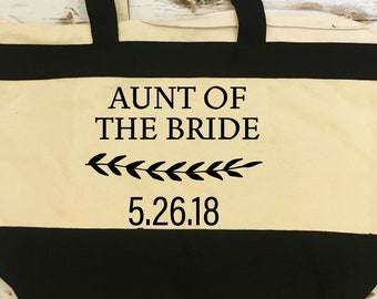 Aunt Of The Bride Tote Bridal Party Gift For Future Mrs Aunt Wedding Party Tote Gift Idea Wedding Gift Love Gift Best Day Ever Gift For Aunt