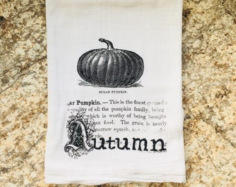 Sugar Pumpkin Definition Harvest Dish Towel Flour Sack Tea Towel