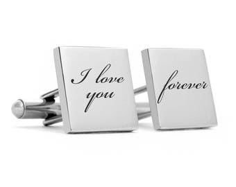 Wedding Cufflinks, Groom cufflinks, personalized cufflinks, engraved cuff links, groom gift, wedding cuff links