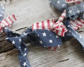 GARLAND, tassel garland, fabric bunting, christmas garland, christmas decorations, home decor, fourth of july garland, fireplace mantel
