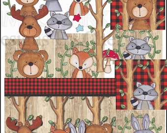 Woodland Critters Clipart Collection- Immediate Download