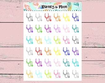 Stethoscope Icons   Planner Stickers