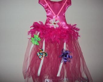 149 Hot Pink Tutu Hair Bow Holder