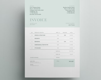 Invoice Template Etsy - Free business invoice templates word jordan online store