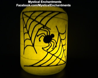 Halloween Luminary Dancing Skeletons & Spiderweb Halloween Lantern Candle Holder- 2 in 1
