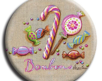 Magnet magnet candy, lollipops and barley sugar and no. 12 diameter 45 mm