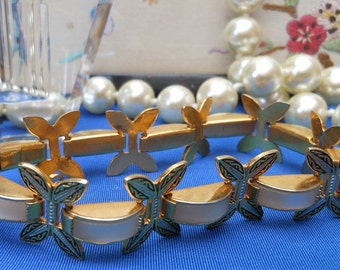 1960's - TOLEDO GOLD BRACELET - Butterfly Jewellery - Damascene - Spanish - Vintage bracelet - Gift for her - faux Mother of Pearl -