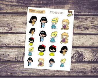 Princess Inspired (Disney) Doodles Planner Stickers