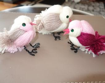 Wool Bird Ornament