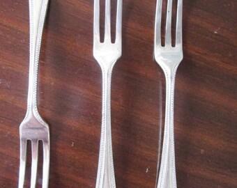 Original Vintage 1950s Tiny Cake Forks Small Mini Silverware Flatware cutlery High Tea Party
