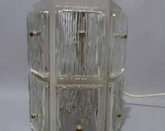 Industrial Glass pendant lamp-mid 20th century