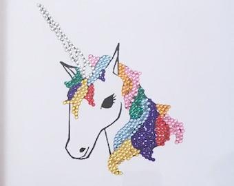 Unicorn diamonte Girls Bedroom Frame Gift
