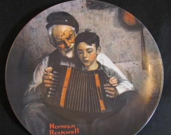 """Norman Rockwell Plates """"The Tycoon""""  """"The Music Man""""  """"The Ship Builder"""", & more Knowles Collection Vintage 1980s CHOICE"""
