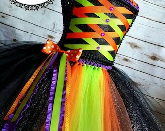 Witch Tutu dress | Halloween Costume | Halloween tutu dress | Halloween | Witch customer | Newborn- Adult listing