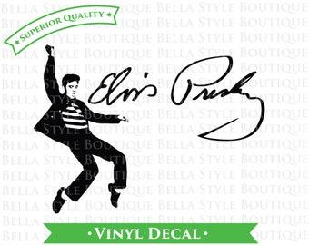 Elvis Presley Jailhouse Rock and Signature VINYL DECAL