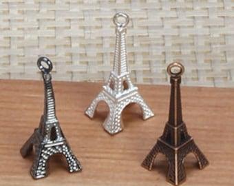 """20pcs- 1.5"""" Eiffel Tower charms, Jewelry charms, Eiffel tower party charms, Eiffel tower decor. Item#7022"""
