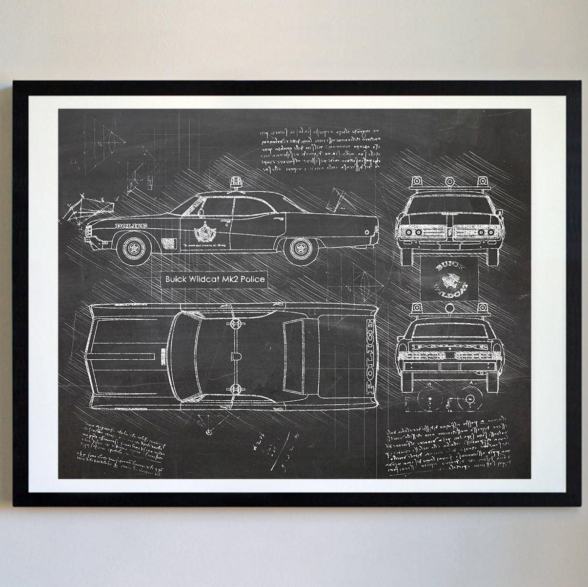 Buick Wildkatze Mk2 Polizei Da Vinci Skizze Buick