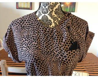 Vintage leopard dress.