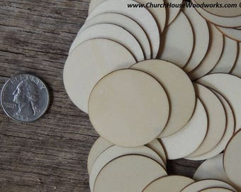 1-1/2 inch wooden craft circles, DIY craft supplies one and half inch wood circles, wood coins, 1.5 inch wood disc, rounds, cookies