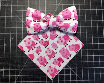 Everyday pet bow tie, pig pet bow tie, dog bow tie, cat bow tie -- [this little piggy]