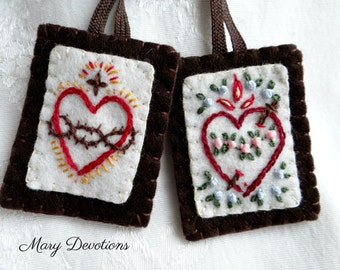 Embroidered scapular