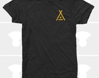 Tent Sun, Men's Shirt, Camping Shirt, Hiking Shirt, Men's Clothing, Mountain Shirt, Adventure Shirt, Men's Tshirt, Front & Back Graphic