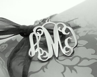 Sterling Silver Monogram Pendant