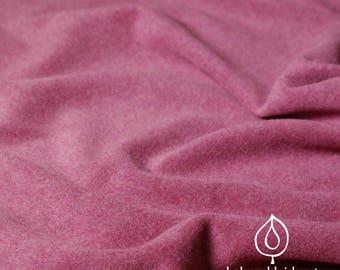 Organic Fleece Wine Red burgundy mottled