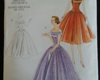 Vogue 1094 - Vintage Model - Original 1955 Design - Misse's Dress - sizes 14-16-18-20