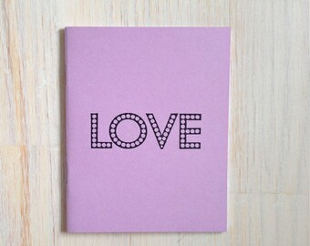Medium Notebook: Love, Purple, Bridal Shower, Romance, Blank Journal, Wedding, Favor, Journal, Blank, Unlined, Unique, Gift, Notebook, FF288