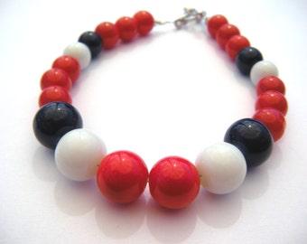 Boston Bracelet - Red White and Blue Bracelet