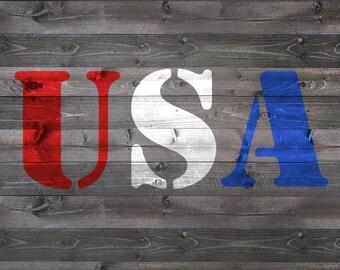 "4th of July ""USA""- Stencil Kit"