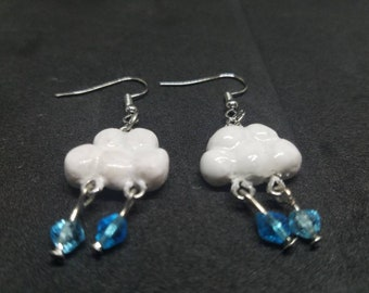 Rainy Day Cloud Earrings
