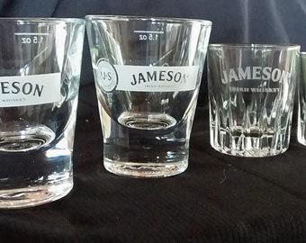4 Jameson Whiskey Shot Glasses
