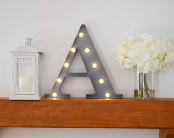 """Greek Letter Lights """"Alpha"""" / Letter Marquee Light """"A"""" / Sorority Marquee Letters / Light up Letters / Sorority Lights / Marquee Signs"""