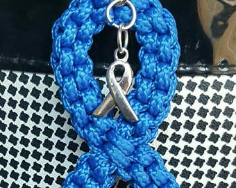 Colon Cancer Awareness Keychain...can be done in most awareness colors.