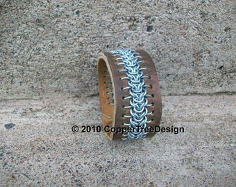 Leather Chainmail Cuff