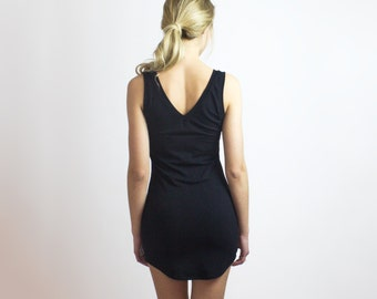 Eco Slip Tunic tank top, Sasha Cozy Bamboo stretch jersey slip sleepwear, womens lingerie, Gift For Her