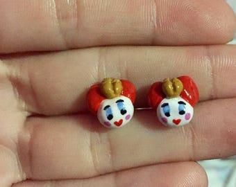 Alice in Wonderland Queen of Hearts Earrings