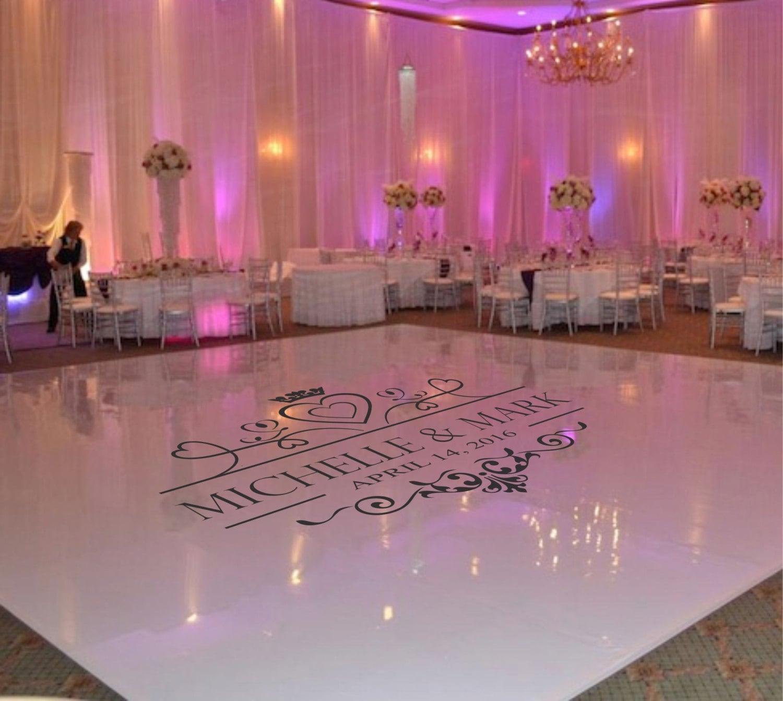 Wedding Dance Floor Decal Wedding Floor Monogram Vinyl Floor
