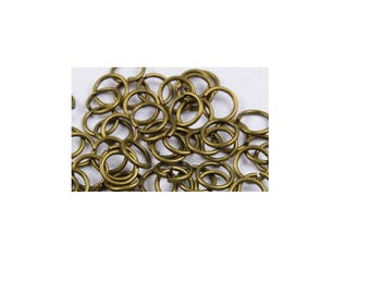 set of 20 rings plated bronze 5 mm