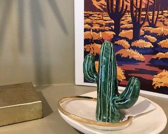 Ceramic Cactus Ring Dish